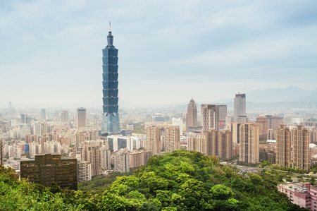 View of Taipei s  business district