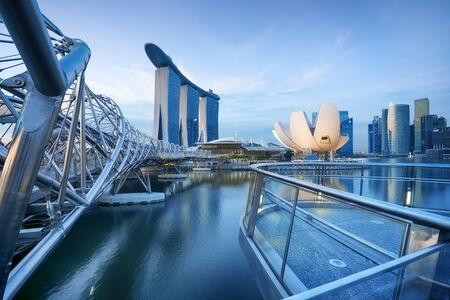 singapore city: Bay view of Singapore City