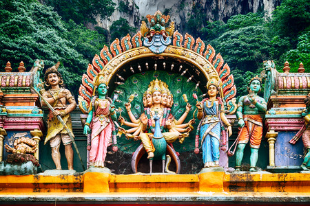 god figure: A Hindu temple at the Batu Caves in Kuala Lumpur