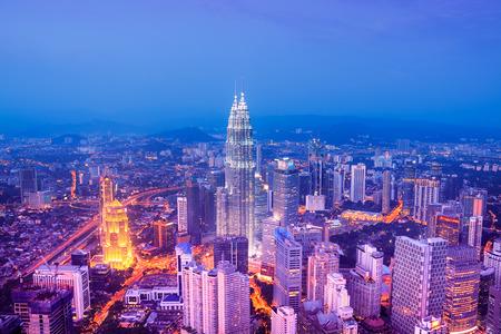 kuala lumpur: Kuala Lumpur skyline with the Petronas Towers and other skyscrapers