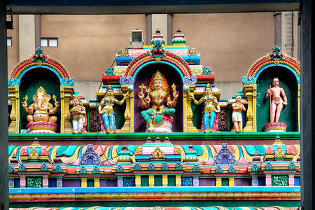 hindu god: Detail of Sri Mahamariamman Temple, The oldest Hindu temple in Kuala Lumpur