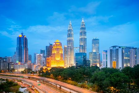 Night view of Kuala Lumpur skyline   photo