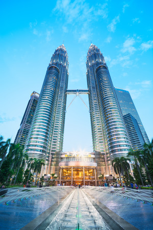 vertical image: Petronas Twin Towers Editorial