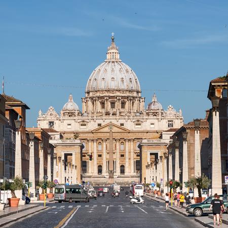 vatican city: Rome, Italy (Vatican) - MAY 11, 2012: St. Peter`s Basilica
