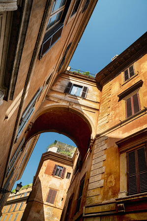 Old townhouses in Rome. photo