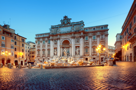 Trevi Fountain (Fontana di Trevi). Rome - Italy. Stock Photo