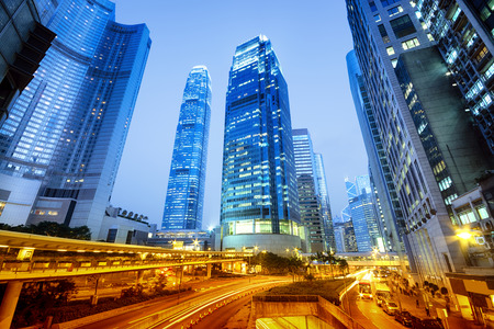 hk: International Finance Center towers in Hong Kong