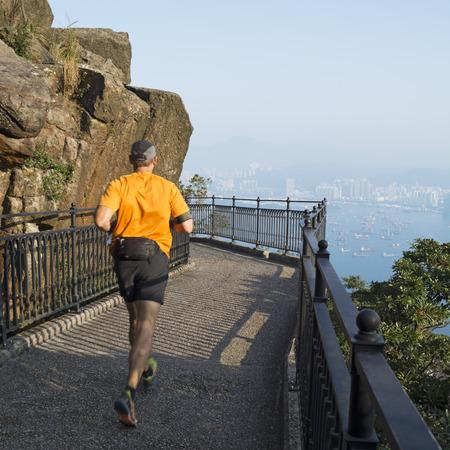 Morning run at Lugard Road, Hong Kong Stock Photo - 34184281