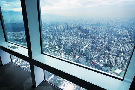 超高層ビルから台北のスカイライン ビュー 写真素材