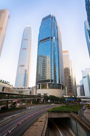 International Finance Center towers in Hong Kong. photo