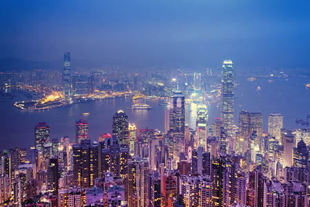 ifc: Hong Kong skyline view from the Victoria Peak.