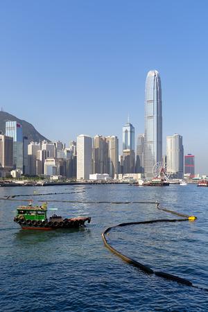 ifc: High rise buildings in Hong Kong. Stock Photo