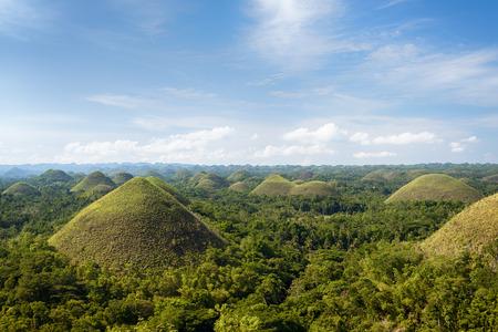 Chocolate Hills in Bohol Island, Philippines. photo
