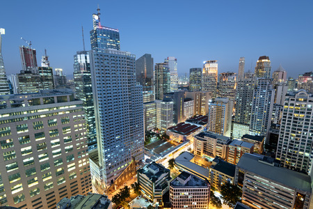 Makati City Skyline. Makati City is one of the most developed business district of Metro Manila and the entire Philippines.