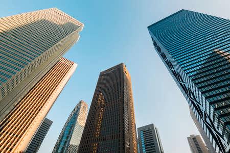 office building: Skyscrapers in Shinjuku, Tokyo - Japan