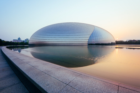 Beijing, China - Oct 19, 2015: National Centre for the Performing Arts, colloquially described as The Giant Egg, is an arts centre containing an opera house in Beijing, People's Republic of China.