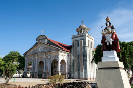 Front view of the Saint Augustine Church of Panglao, Bohol - Philippines. Stock Photo