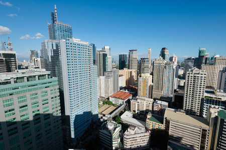no rush: Makati is a city in the Philippines� Metro Manila region and the country�s financial hub. It�s known for the skyscrapers and shopping malls of Makati Central Business District. Stock Photo