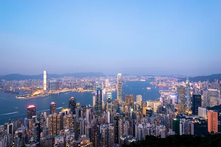 Hong Kong Skyline at Dusk.