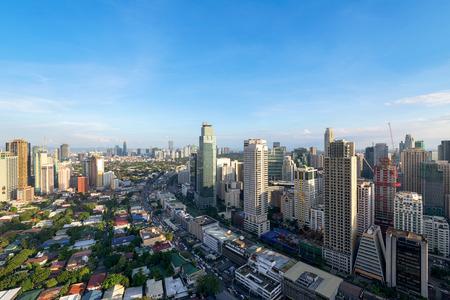 Makati City Skyline, Manila, Philippines. Stock Photo