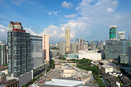 Hight rise condominium and office buildings in Makati City, Manila, Philippines.
