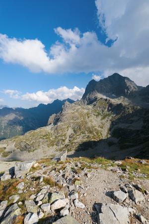 the Mnich peak in the High Tatra near Morskie Oko 免版税图像