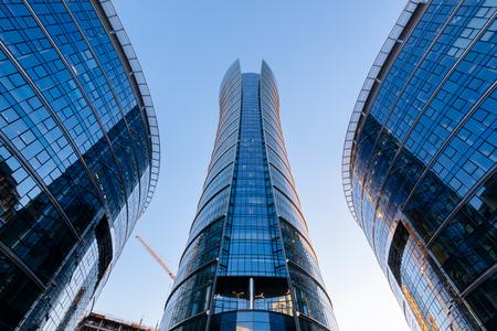 Warschau, Polen - 21.Oktober 2018: Bürogebäude Warsaw Spire, Warschau, Polen.