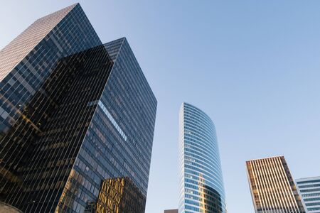 La Defense Business Towers, Financial District, Paris, France.