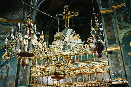 Bucharest, Romania - Dec 14, 2019: St. Antony's Orthodox Church, known as the Church of the Annunciation (Biserica Sfantul Anton) in Bucharest, Romania. Editorial