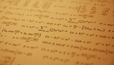 displacement: Formula, advanced math equation. Stock Photo