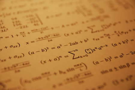 Formula, advanced math equation. photo