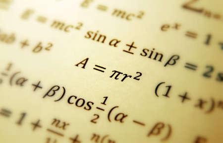 数式と数学幾何学の背景 写真素材