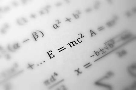 Einstein formula of relativity, math, number equation