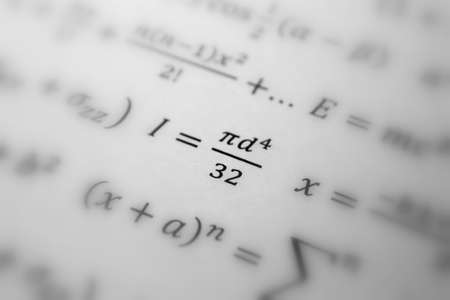 Math geometry background with formulas, math, number equation