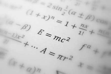 Einstein formula of relativity, math, number equation photo