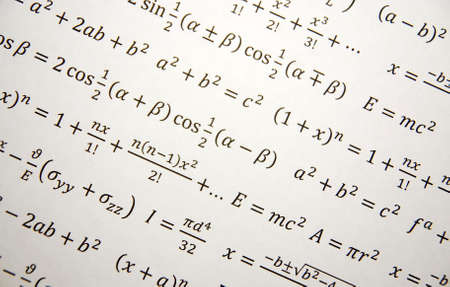 signos matematicos: Fondo de geometr�a de matem�ticas con f�rmulas, matem�ticas, n�mero de la ecuaci�n