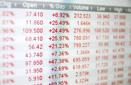 Stock quotes, no real time quotes at the stock market Stock Photo - 6152296