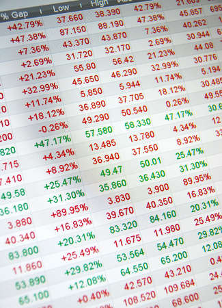 Stock quotes, no real time quotes at the stock market Stock Photo - 6152311