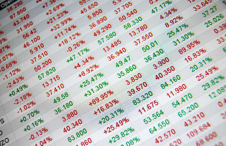 Stock quotes, no real time quotes at the stock market Stock Photo - 6152313