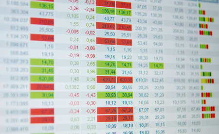 Stock quotes, real time quotes at the stock exchange, market Stock Photo - 6152312