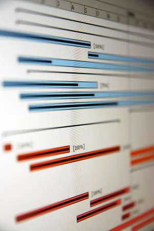 project management: A Gantt chart is a type of bar chart that illustrates a project schedule.