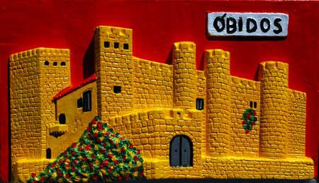 cadre: Cadre Obidos Castle Stock Photo