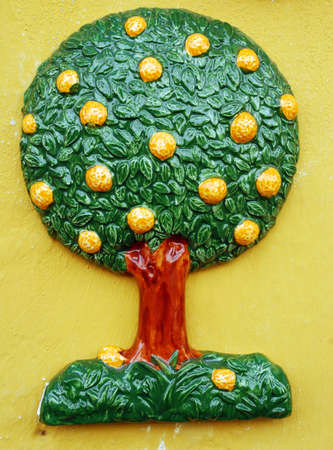 cadre: Cadre tree Obidos Stock Photo