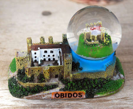 Cadre Obidos Castle Glass Stock Photo - 7559982