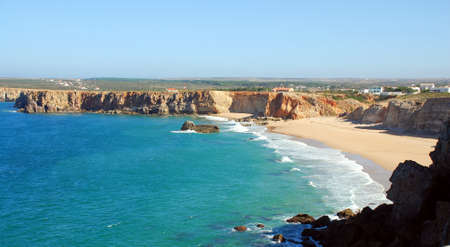 Tonel beach on the southern coast of the Sagres Portuguese  Algarve region Stock Photo