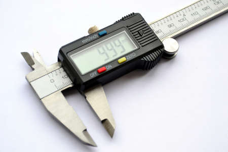 Close up of digital vernier calipers