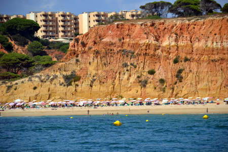 vilamoura: Beach Barranco Belharucas, Algarve, Albufeira, Portugal summer