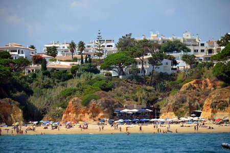 gua: Beach Olhos de gua, Albufeira, Algarve, Portugal summer Editorial