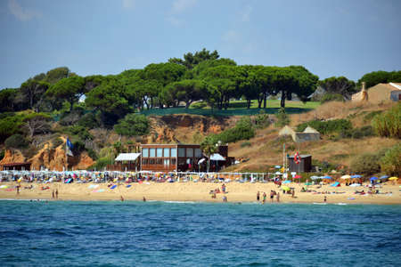 Beach Maria Luisa, Albufeira, Algarve, Portugal Summer Editorial