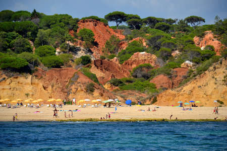 Beach Oura Leste, Albufeira, Algarve, Portugal summer